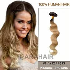 ombre hair extensions 16 two colors 2 and 12 and 613 wavy ombre hair extensions up