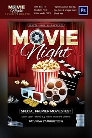 movie night flyer template movie poster template 30 free psd