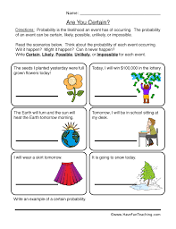 probability worksheets have fun teaching