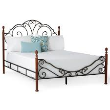 leann graceful scroll bronze iron bed by inspire q classic free