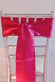 chair sashes fuchsia pink satin chair sashes 6x108