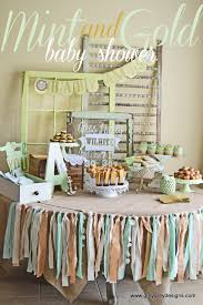 Shabby Chic Baby Shower Ideas by Baby Shower Party Ideas Gold Baby Showers Vintage Shabby Chic
