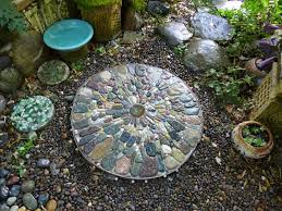 Backyard Pebble Gravel Jeffrey Bale U0027s World Of Gardens Building A Pebble Mosaic Stepping