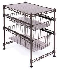 stackable kitchen cabinet organizer steel wire storage rack shelf