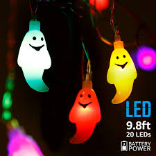 9 8ft 20 leds string lights with ghost pendants spooky halloween