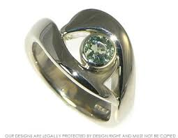 dolphin engagement ring bespoke 18ct white gold dolphin inspired engagement ring