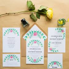 garden wedding invitations rectangle landscape white awesome green