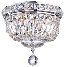 Crystal Ceiling Mount Light Fixture by Crystal Flush Mount Chandelier Chrome Contemporary Flush