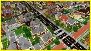 Mc Maps Minecraft Pe Maps Huge Realistic Neighborhood City With Download