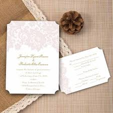 cheap romantic blush pink lace ticket shape wedding invitations
