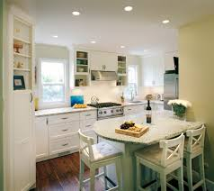 small kitchen peninsula with doorway kitchen traditional and h