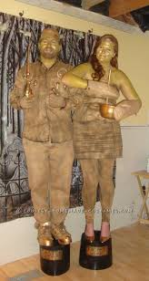 gold trophy wife and master baiter couple costume homemade