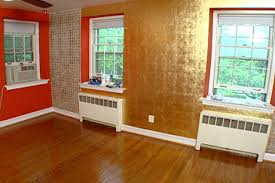 Orange Accent Wall by How To Gold Leaf Accent Wall Hgtv