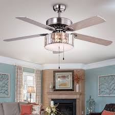 Ceiling Fan Crystal by Kimalex Wood Nickel Crystal Ceiling Fan Free Shipping Today