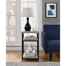 Side Table With Shelves Amazon Com Altra Elmwood End Table Sonoma Oak Kitchen U0026 Dining