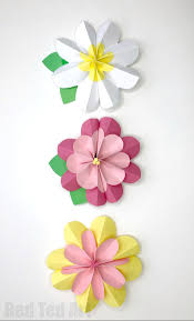 paper flowers easy 3d paper flowers for ted s