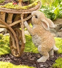 rabbit garden standing rabbit garden statue wind weather