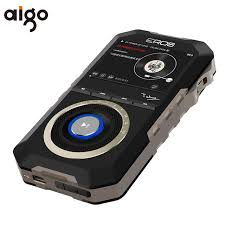 android mp3 player original aigo mp3 player h09 metal wooden back android system