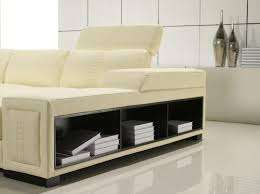 Real Leather Corner Sofa Bed With Storage by U Shaped Leather Sectional With Storage Shelves Hawaii 2 669 00