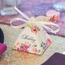 floral ribbon floral wedding favor box with ribbon 10 pack