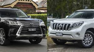 lexus toyota car lexus lx570 2016 vs 2016 toyota land cruiser prado vx youtube