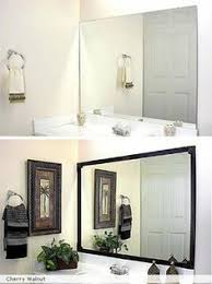 Wood Frames For Bathroom Mirrors Best 25 Frame Bathroom Mirrors Ideas On Pinterest Framed