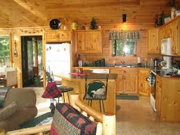 Cabin Ideas Maple Wood Natural Yardley Door Log Cabin Kitchen Ideas Sink
