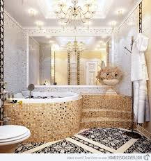 Unique Mosaic Tiled Bathrooms Home Design Lover - Bathroom mosaic tile designs