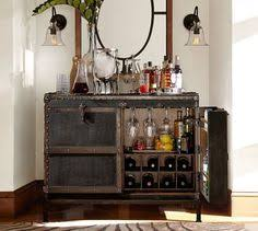 Trunk Bar Cabinet Ludlow Trunk Bar Cabinet Key Lock Wine Rack And Pottery