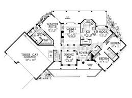 craftsman house plan with angled garage house plan