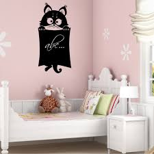 wallstickers folies cat chalkboard blackboard wall stickers cat chalkboard blackboard wall stickers