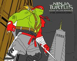 colored page raphael ninja turtles painted by user not registered