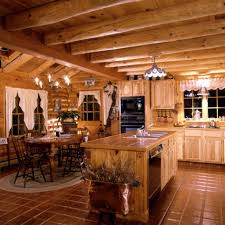 log cabin decorating ideas in the kitchen room with kitchen island