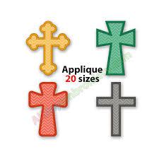 cross applique design machine embroidery design religious cross