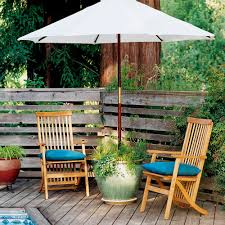 planter umbrella stand sunset