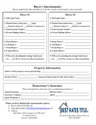 best rates title company of nh llc buyer u0027s questionnaire