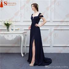 bariano dresses bariano navy blue color chiffon events prom dresses v