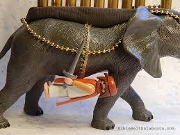 elephant menorah elephant menorah up again bible belt balabusta