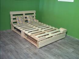 pallet platform bed with storage 99 pallets