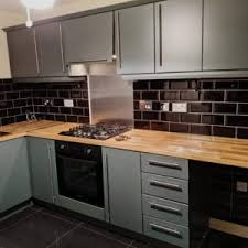white gloss kitchen unit doors can kitchen spray be used to cover a gloss kitchen we