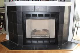 black tile gas fireplace jpg