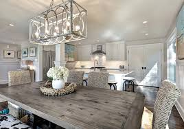 Dining Room Light Fixture Dining Room With Farm Table And Great Light Fixture 1 Hupehome