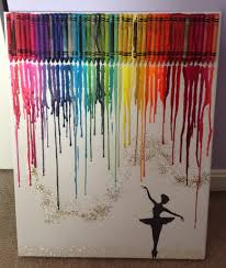 How To Get Crayon Off Walls by Diy Rainbow Melted Crayon Art Canvas Dance Dancer Silhouette