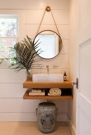 Mirrors For Bathrooms Vanities Wall Mounted Taps Hanging Mirror Solid Wood Neat Sink Good For
