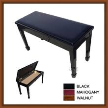 leather grand duet piano bench with storage pianogoods com