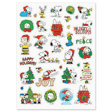 peanuts christmas stickers current catalog