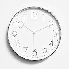 Wall Clocks Amazon Com Foxtop 12 Inch Minimalist Silent Sweep Wall Clock With