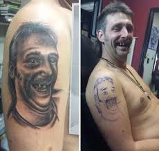 Bad Tattoo Meme - this dudes tattoo of himself from r trashy atbge pinterest