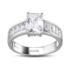 925 sterling silver engagement rings emerald cut white sapphire 925 sterling silver engagement ring