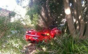 in australia a crashed ferrari is obviously a spider autoevolution